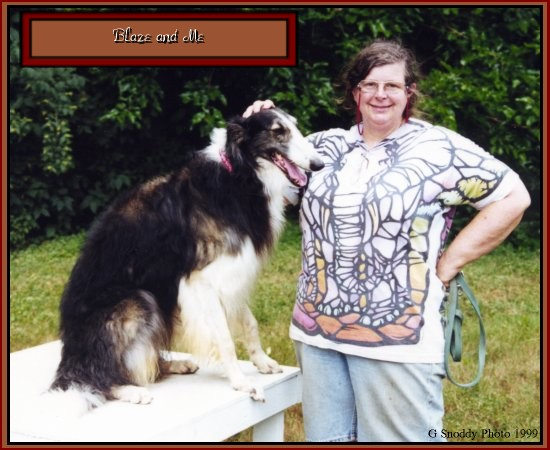 Kennel Owner Bonnie with favorite Borzoi, Blaze
